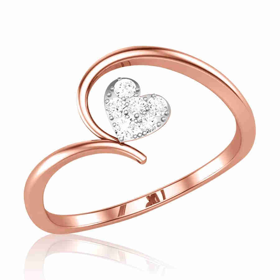 Single Diamond Rose Gold Ring