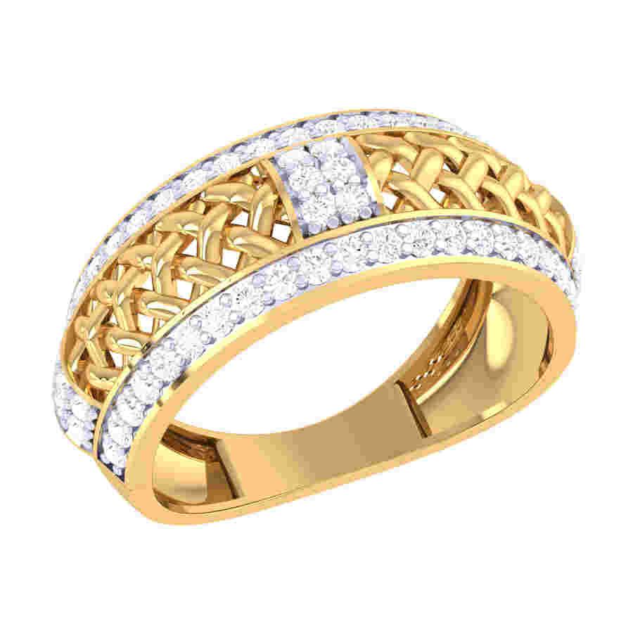 Star Burst Diamond Ring
