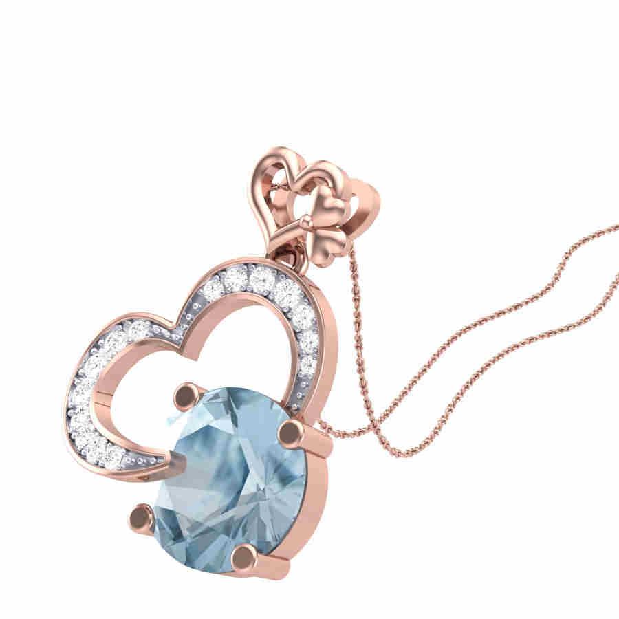 Bluestone Diamond Pendant