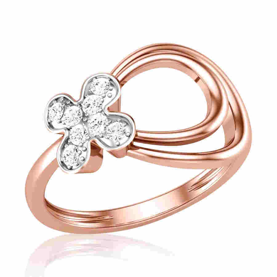 Rhombus Diamond Ring
