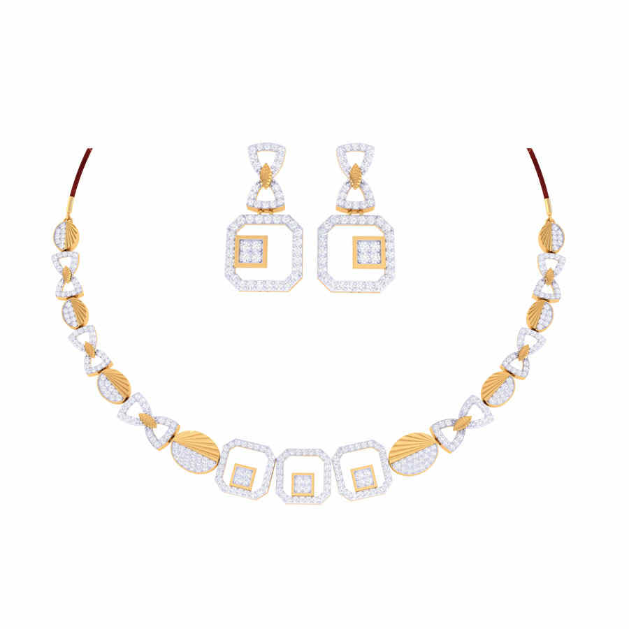 Abigale Diamond Necklace Set