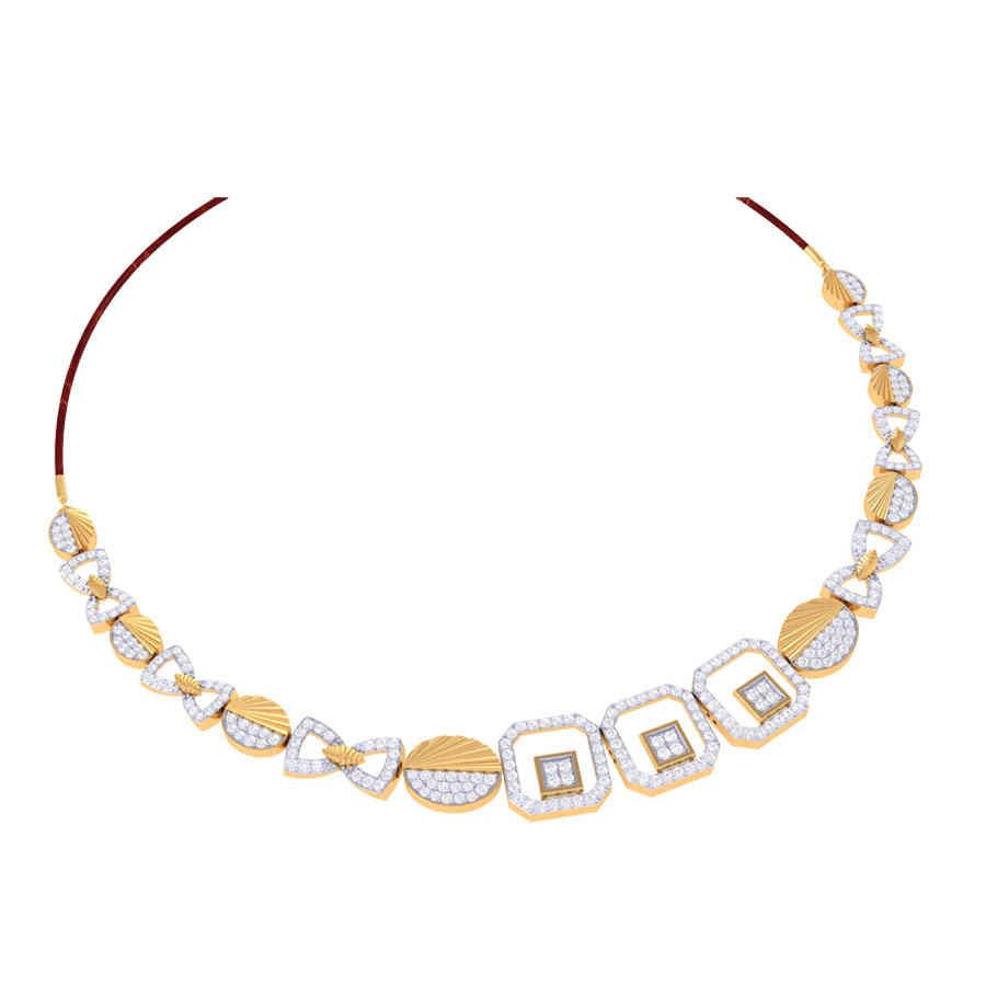 Abigale Diamond Necklace Set