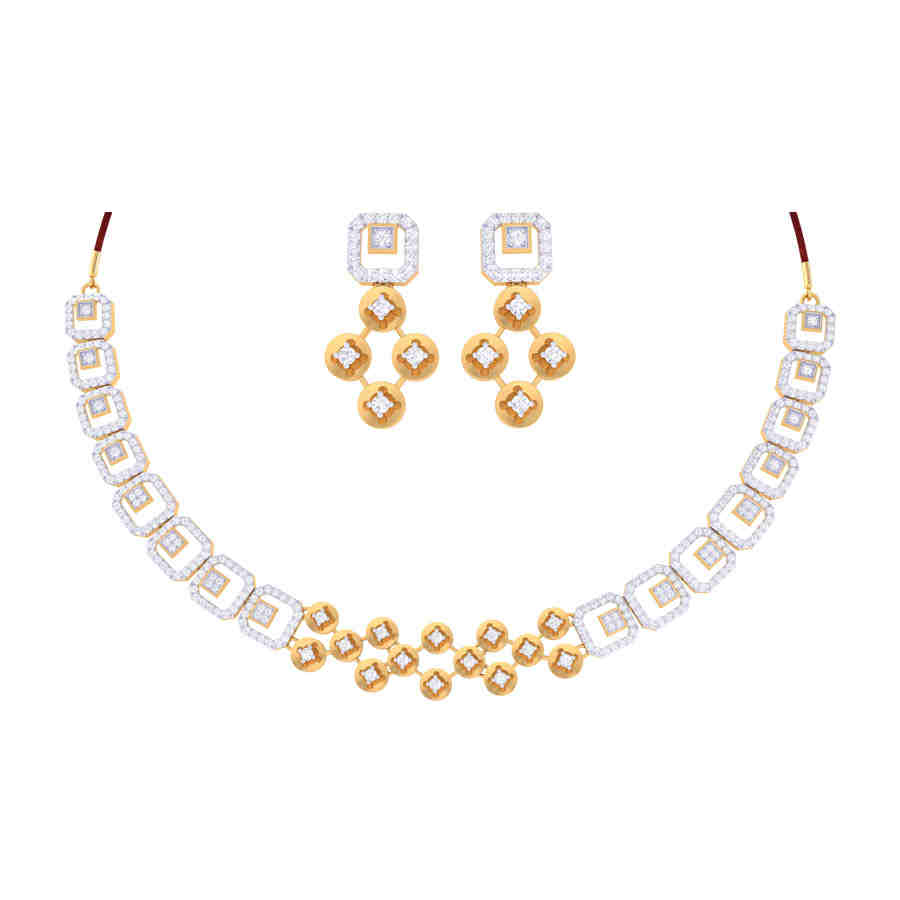 Ada Diamond Necklace Set