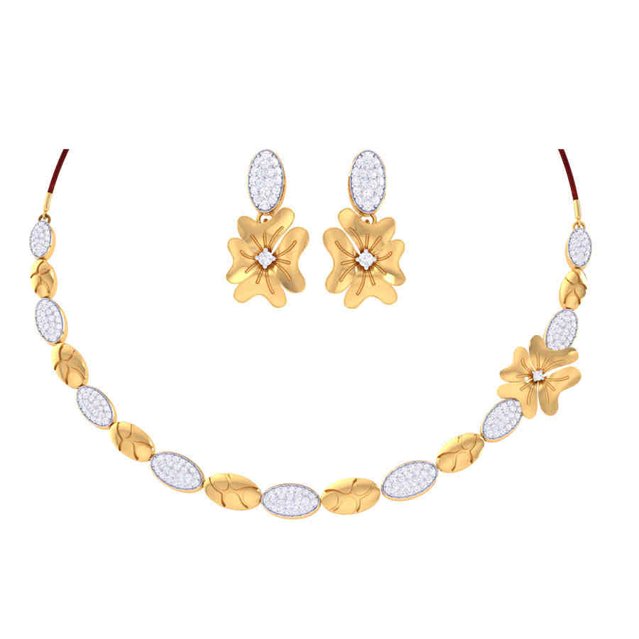 Belle Diamond Necklace Set