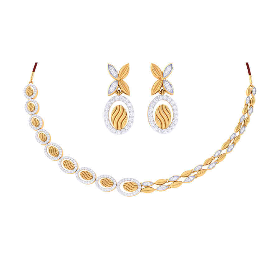 Amelia Diamond Necklace Set