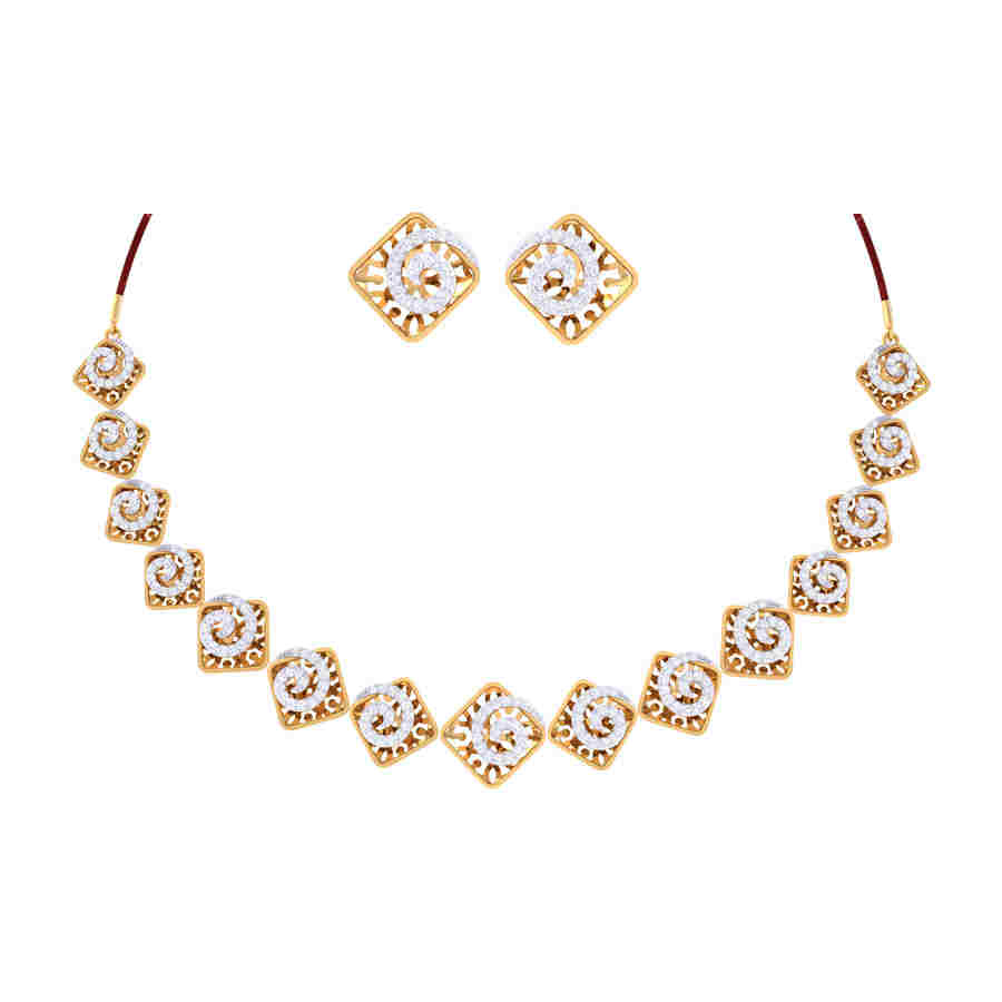 Claire Diamond Necklace Set
