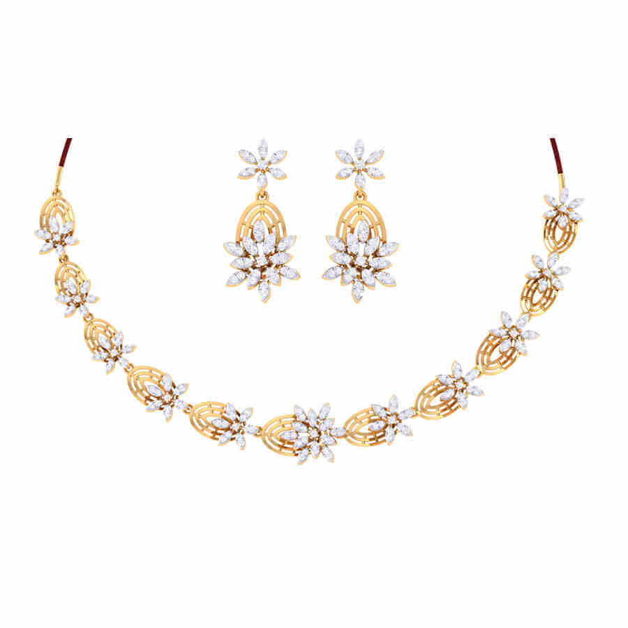 Kiara Diamond Necklace Set