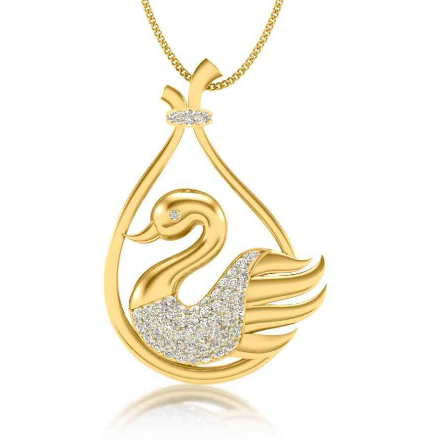 Shining Bird Diamond Pendant