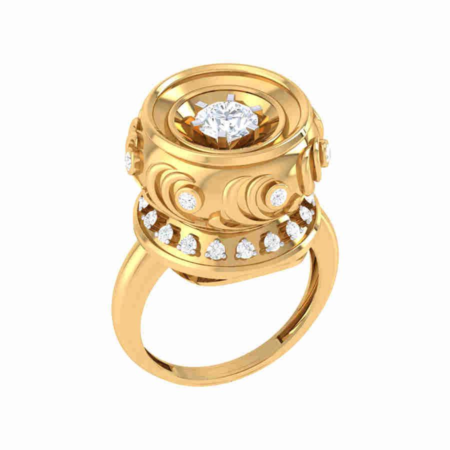 Titanium Diamond Ring