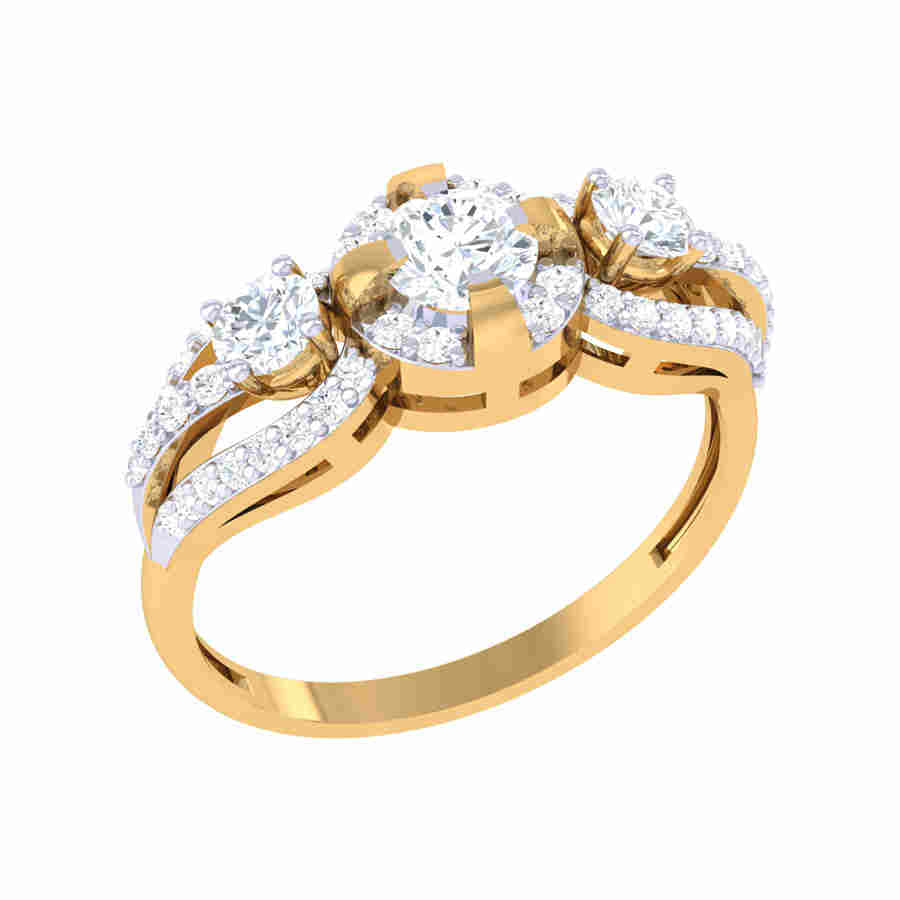 Dangle Diamond Ring