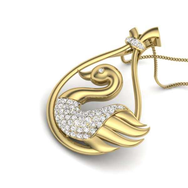 Shining Bird Diamond Pendant