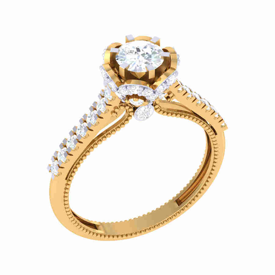 Top Solitaire Diamond Ring