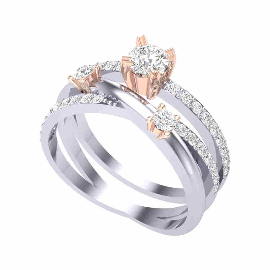 3 Diamond Solitair Ring