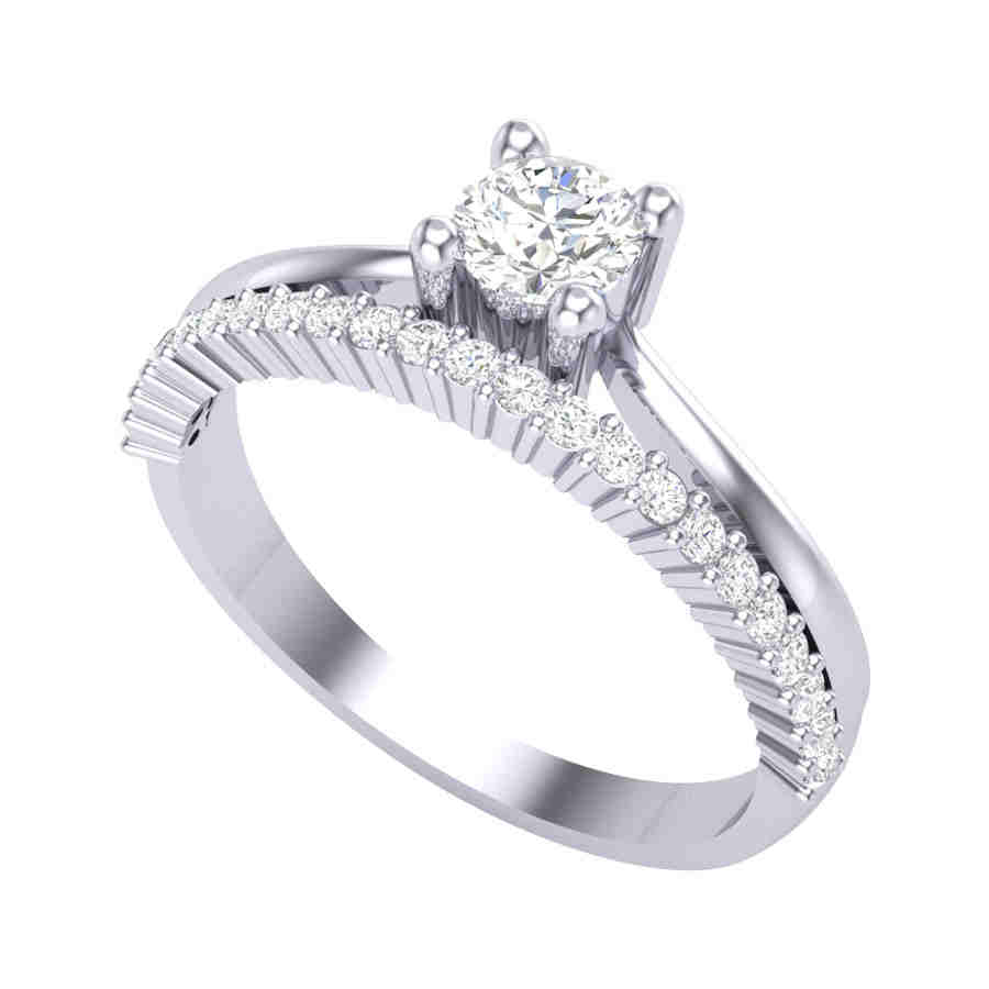Princess Platinum Ring