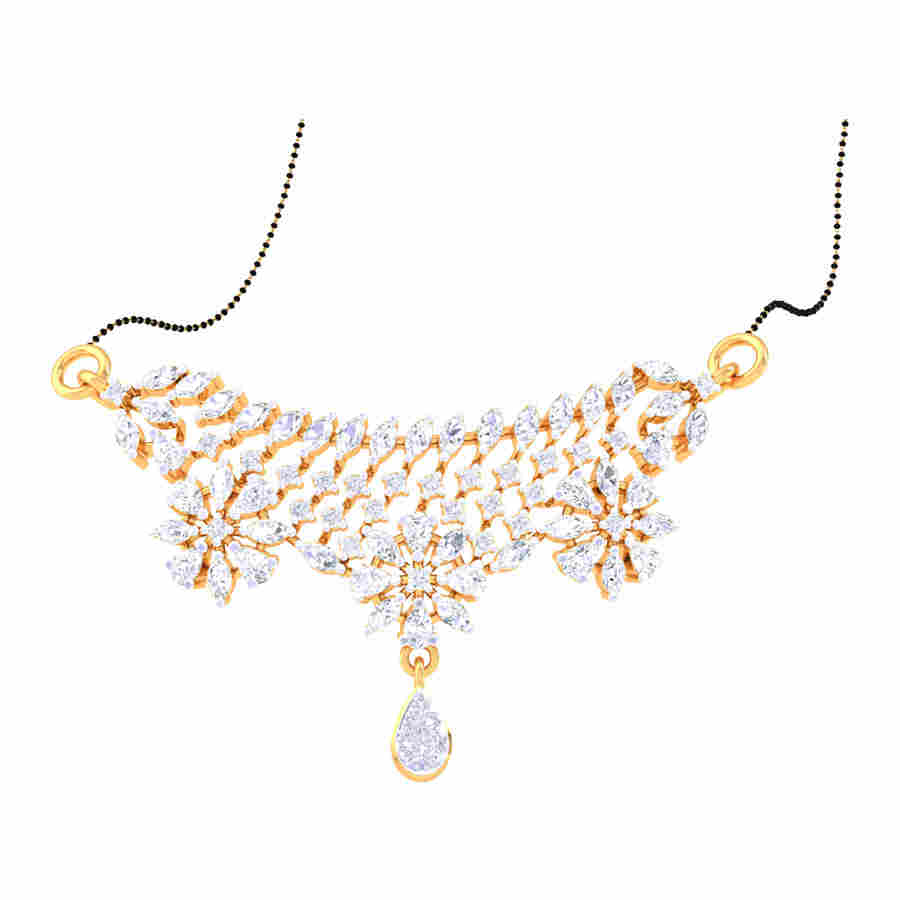 Real diamond Mangalsutra Penda
