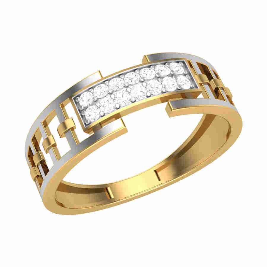 Classic Diamond Gents Ring