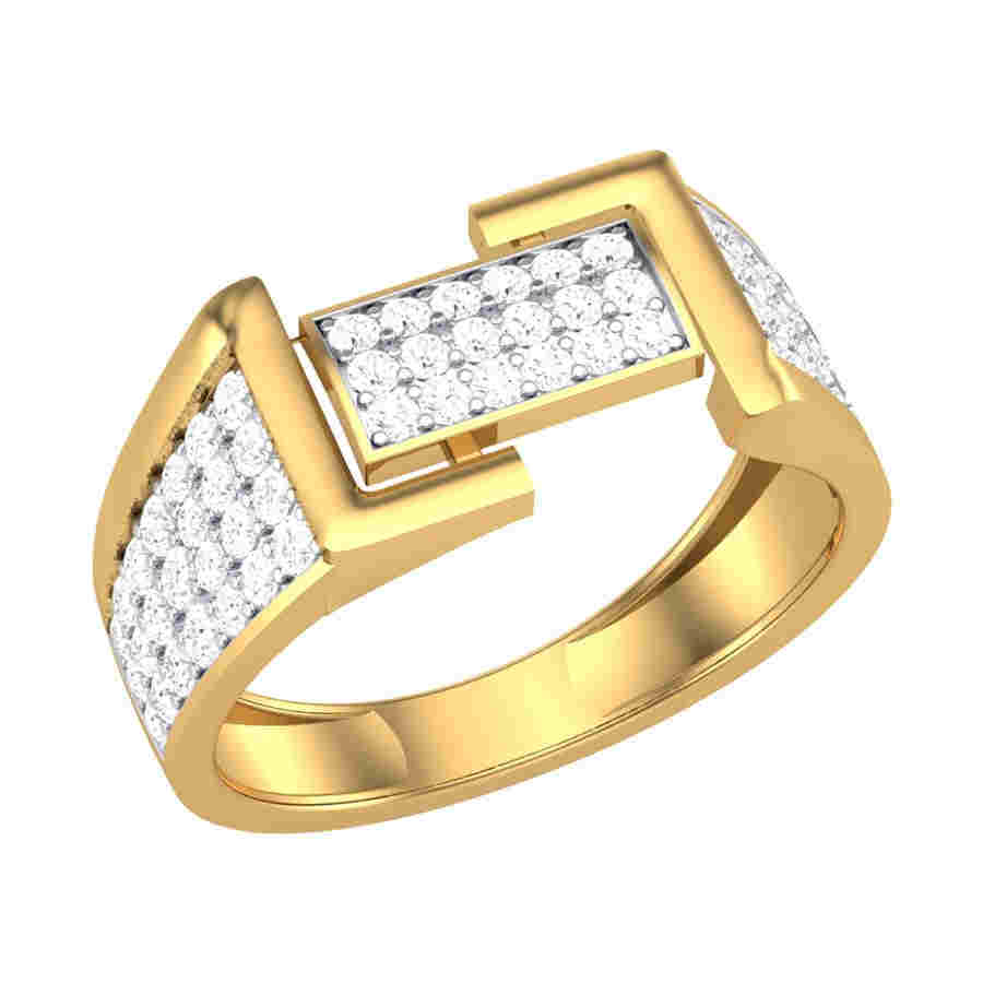 Classic Diamond Mens Ring
