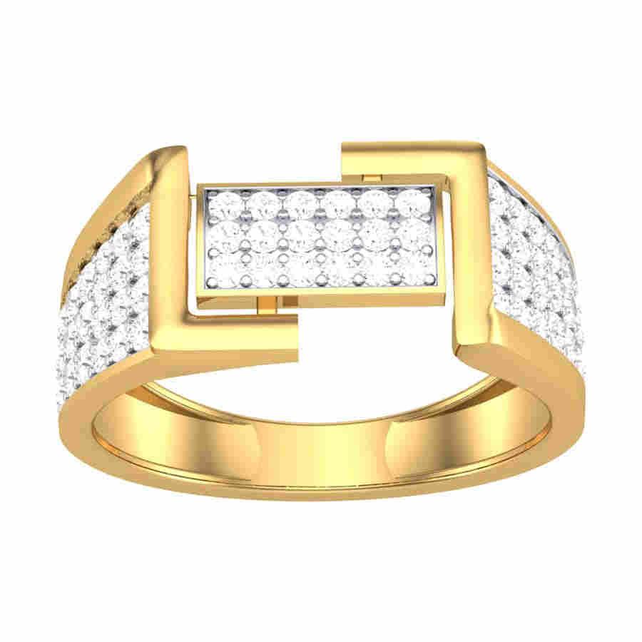 Fancy Diamond Gents Ring