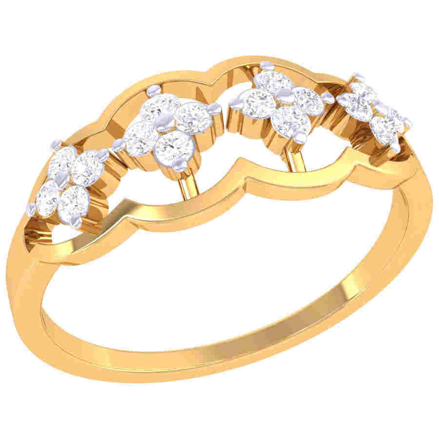 Floral Design Diamond Ring