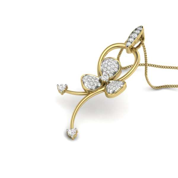 Knotted Floral Diamond Pendant