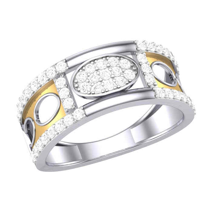 Stylish Diamond Gents Ring