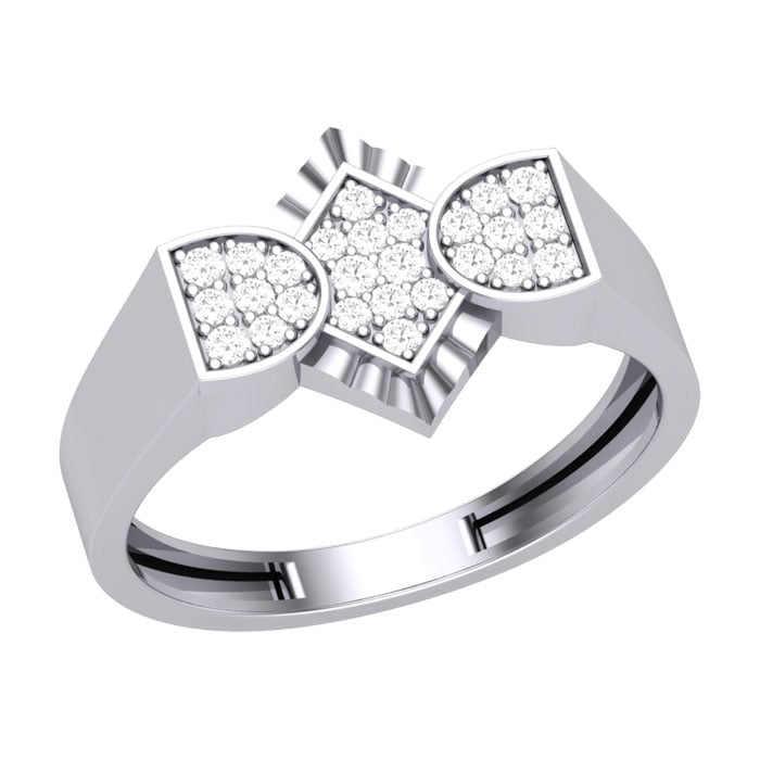 Shiny Diamond Gents Ring