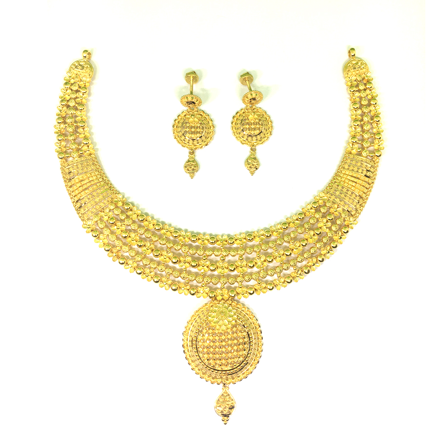 Aasira Gold Necklace Set
