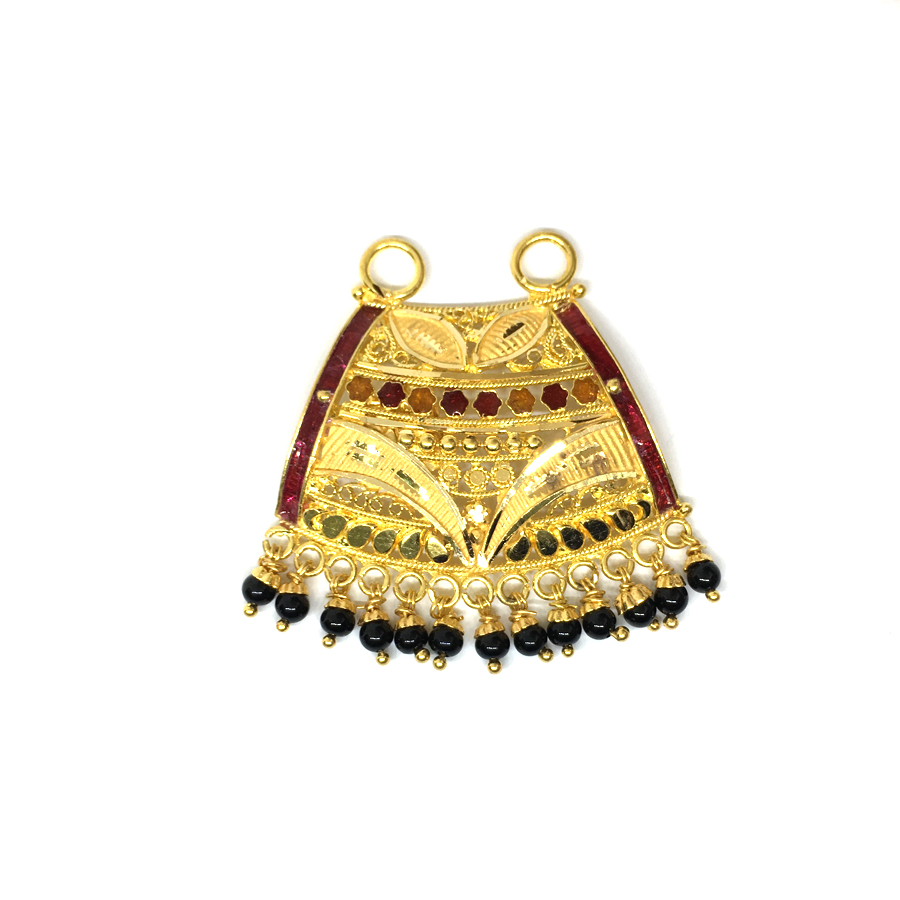 Triangle Gold Mangalsutra Pend