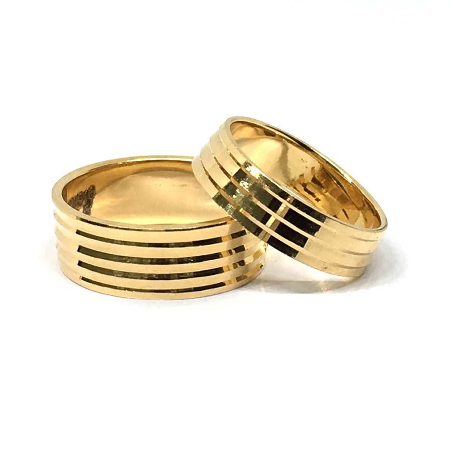 Gold Couple Band For Both