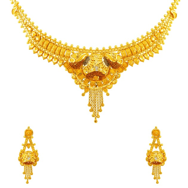 22k Yellow Gold Necklace Set10