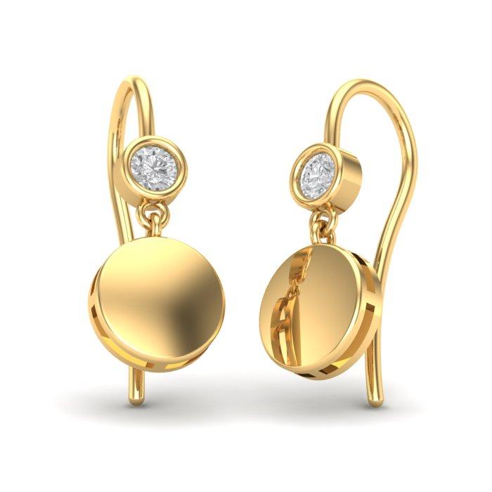 Single Diamond Gold Earring