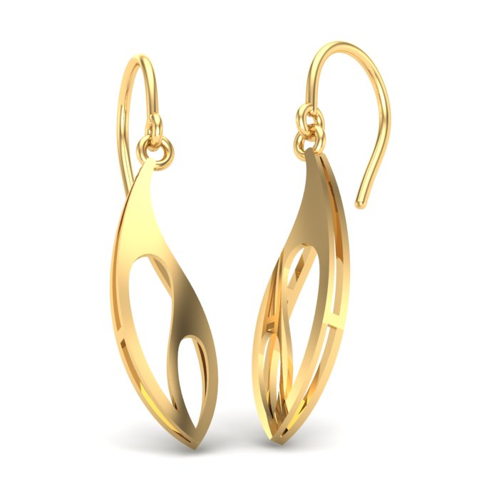 Beach Leaf Gold Earring