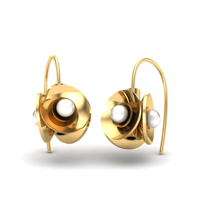 Floret Gold Earring