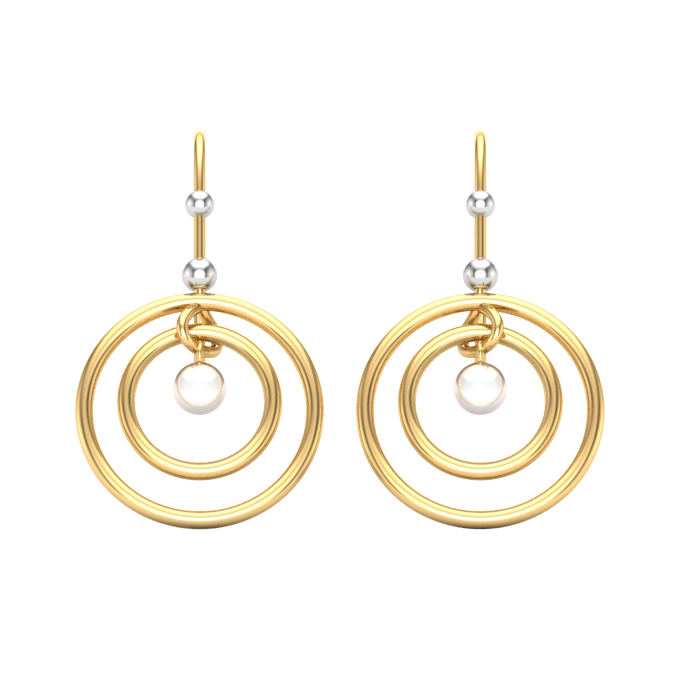 Two Round Gold Earring