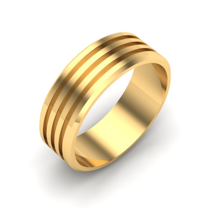 Simple Gold Ladies Ring