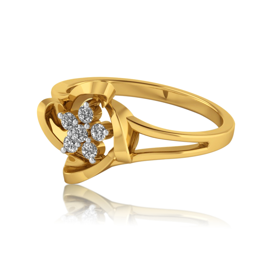 Four Corners Floral Ring