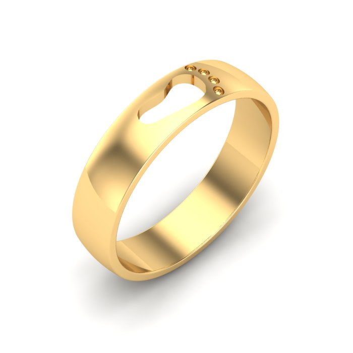 Footprint Gold Ring