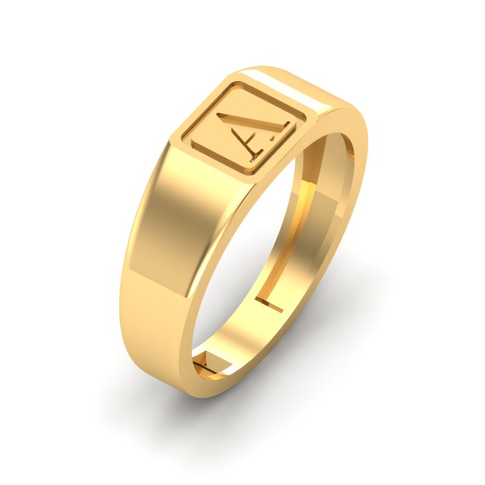 A Letter Gold Ring