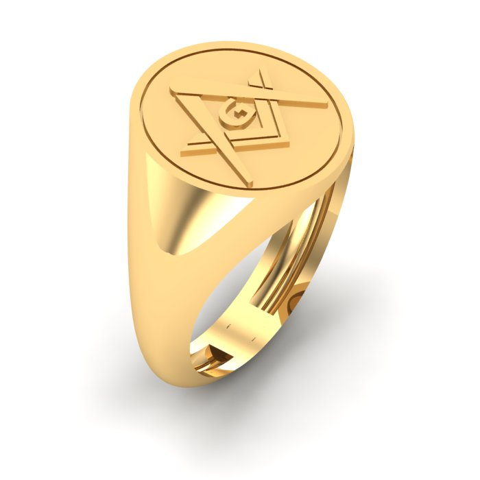1 With 3 Letter Gold Ring