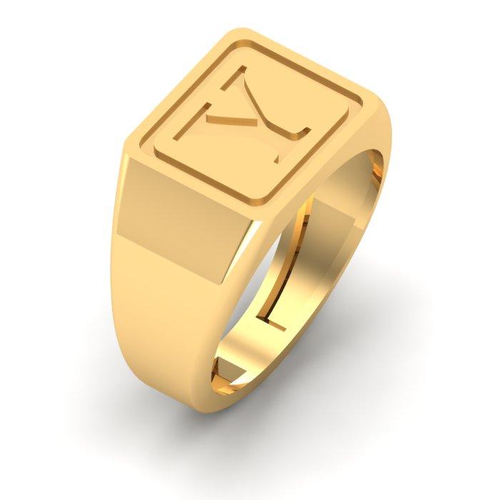Y Letter Gold Ring