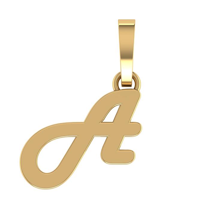 Designer A Gold Pendant