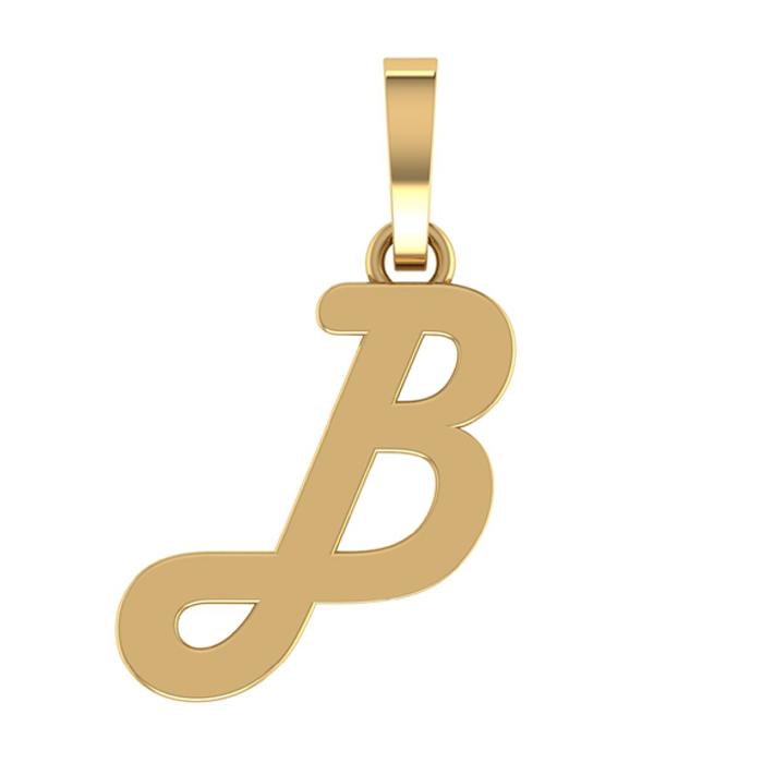 Designer B Gold Pendant