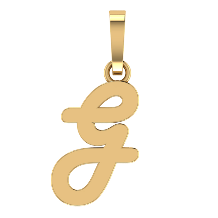 Stylish G Gold Pendant
