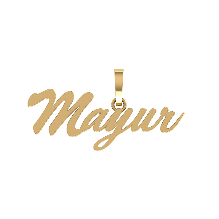 Mayur Gold Pendant