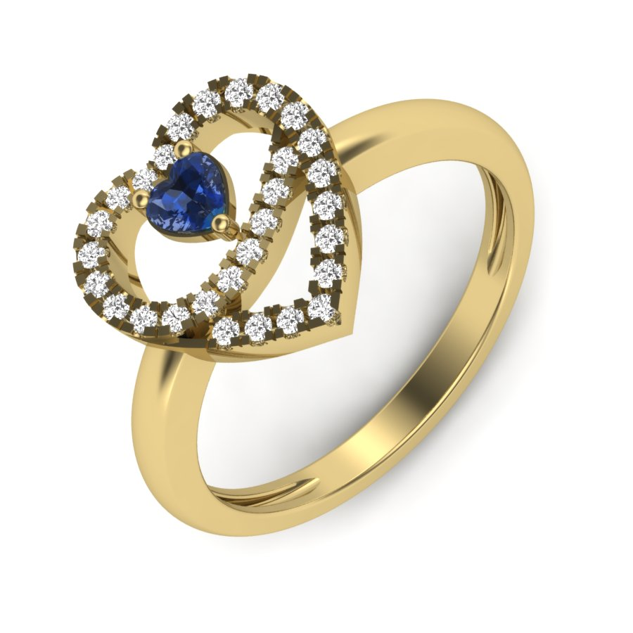 Sweatheart Diamond Ring