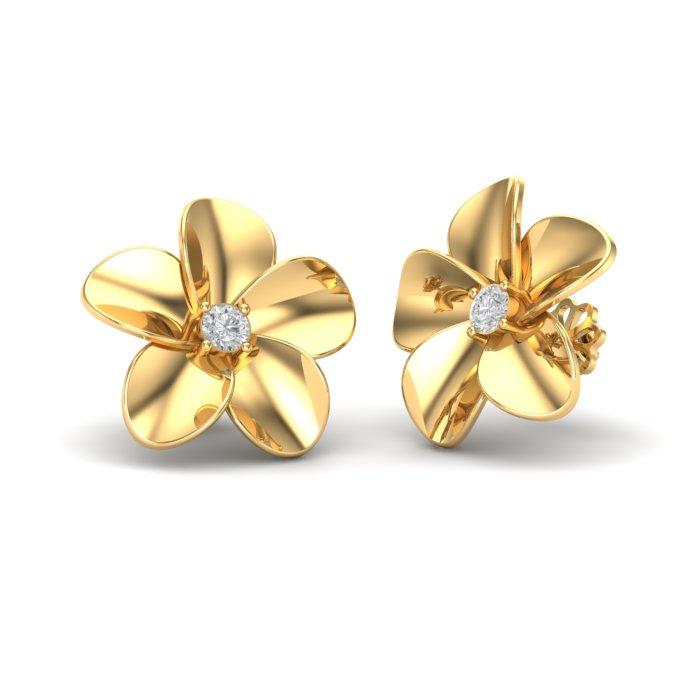 Floral Heart Stud Earring