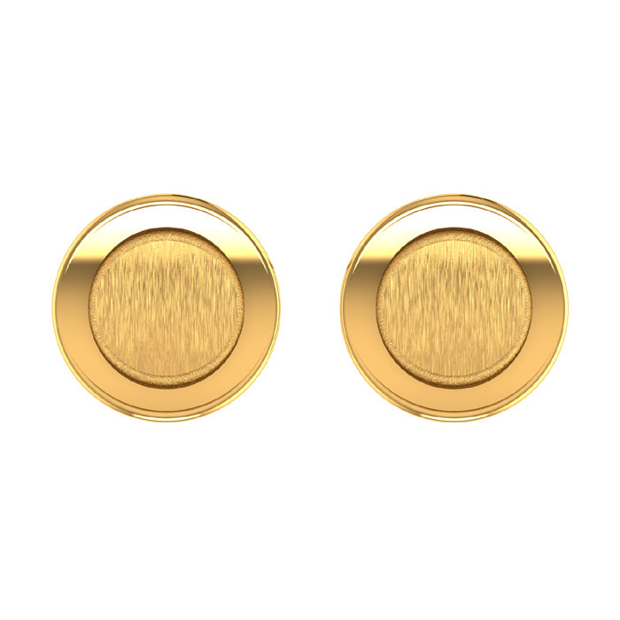 Kanza Stud Gold Earring