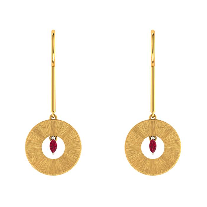 Arvin Hoop Gold Earring