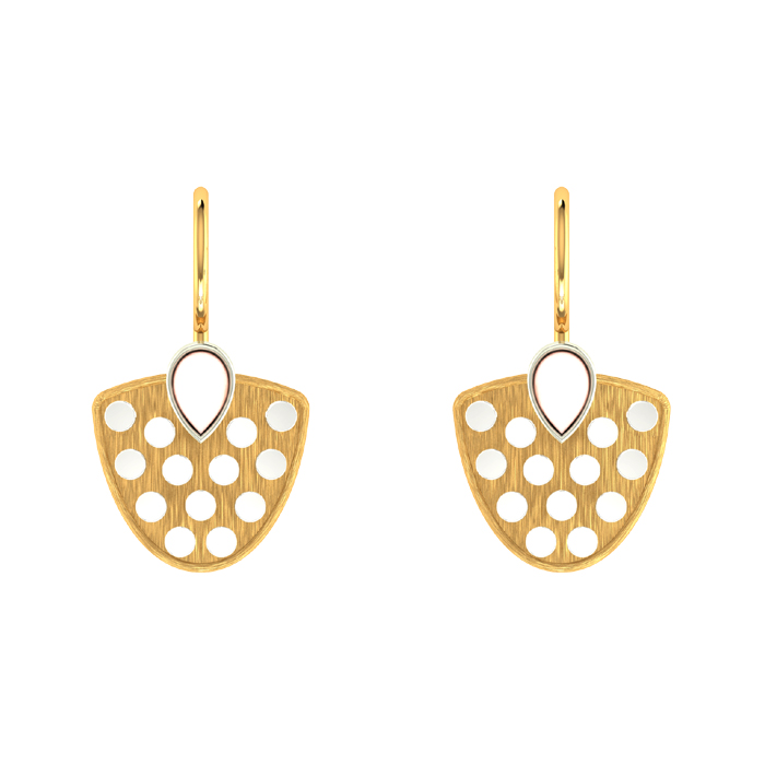 Cotted Drop Gold Earring