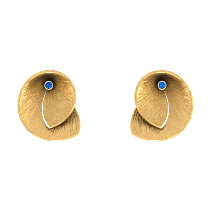 Pear Stud Gold Earring